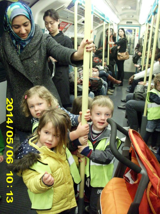 On the Underground to the Museum