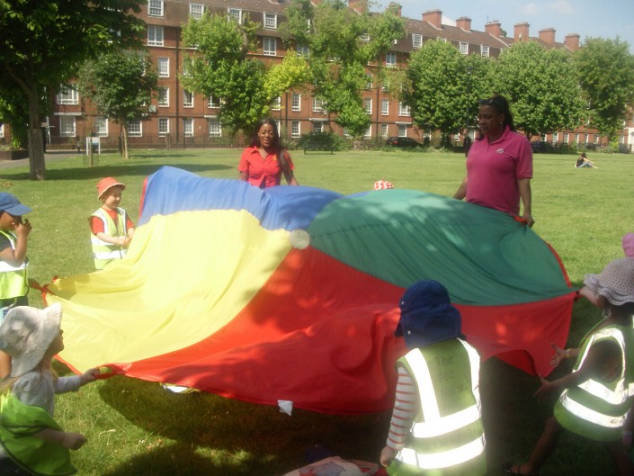 Parachute Games at the Park