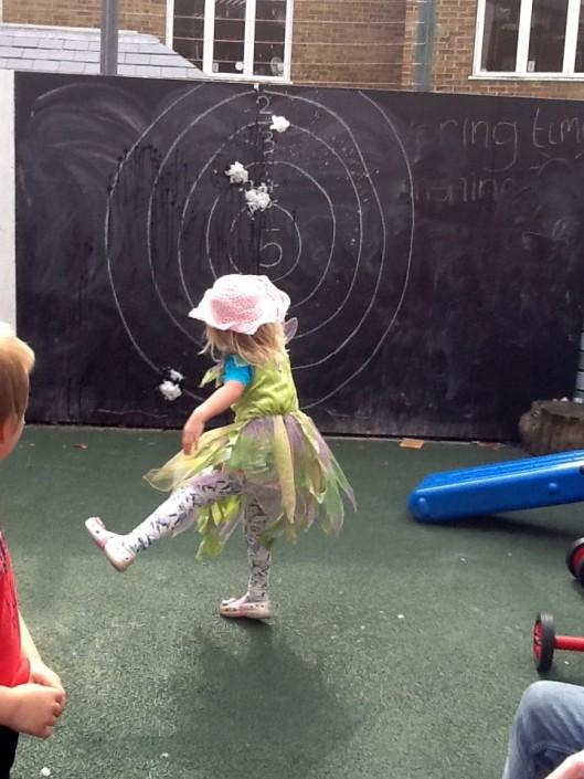Throwing Practise in the Garden