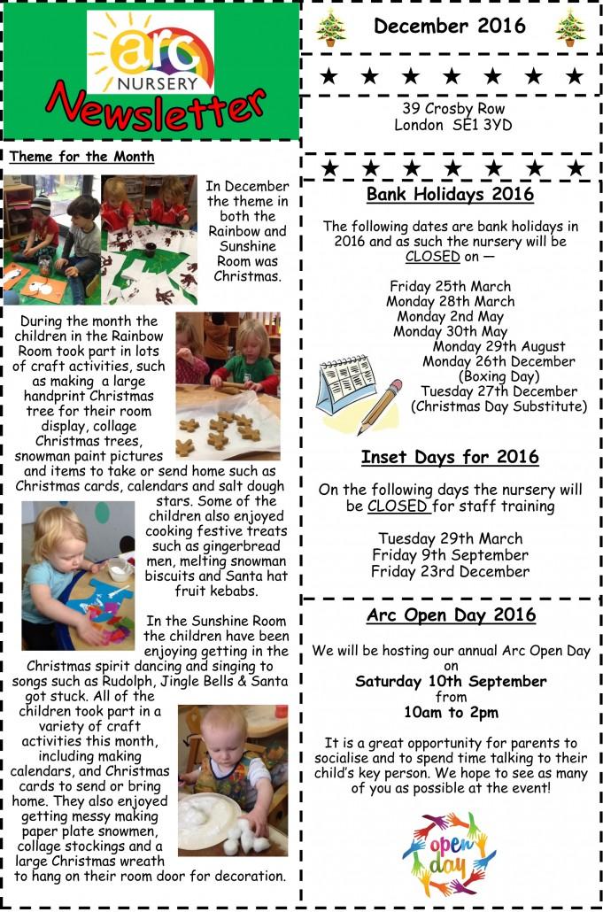 December 2015-Newsletter