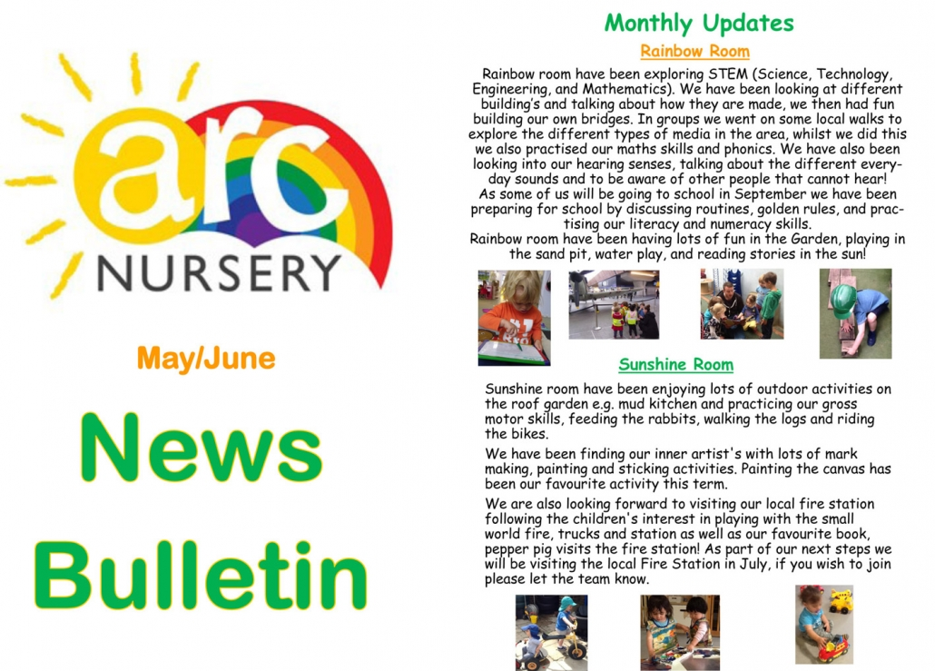 Arc Nursery May-June Newsletter