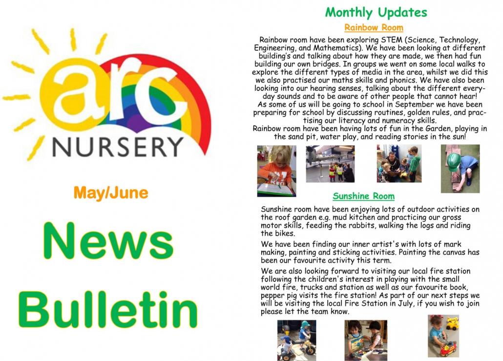 Arc Nursery May-June Newsletter